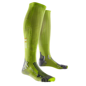 X-Bionic Effektor Competition Long Socks Men Green Lime/Pearl Grey